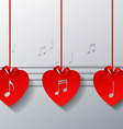 Red Love Music Concept Design vector image vector image