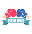 retro emblem for boxing vector image vector image