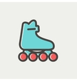 Roller skate thin line icon vector image