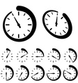 round black timer icons vector image vector image