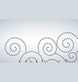 seamless curly dot pattern white background vector image vector image