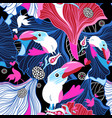 seamless festive pattern birds in love vector image vector image