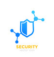 security icon with shield vector image vector image