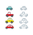 set cars for kids vector image