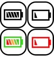 Set of battery icon - flat design Eps 10 vector image