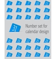 Set of calendar icons with numbers vector image vector image