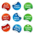 Set of round stickers vector image vector image