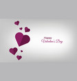 shape of heart love abstract background vector image vector image