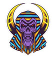 skull pharaoh head mascot logo design vector image vector image