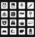 sleep icons set squares vector image vector image