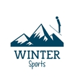 Snowboard and winter sport design vector image vector image