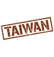 taiwan brown square stamp vector image vector image