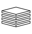 tiler stack icon outline style vector image vector image
