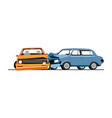 traffic collision cars road accident of vector image vector image