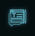 type pen site neon icon web development icon vector image