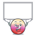 up board jelly ring candy character cartoon vector image vector image