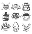 vintage bakery icon set vector image