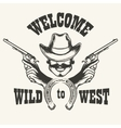 Welcome to Wild West Emblem vector image vector image