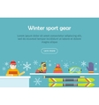 Winter Sport Gear Flat Design Web Banner vector image