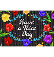 with hand-drawn inscription and ornamental floral vector image vector image