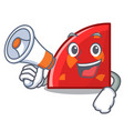 with megaphone quadrant character cartoon style vector image vector image