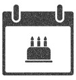 Birthday Cake Calendar Day Grainy Texture Icon vector image