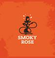 modern professional sign logo smoky rose vector image