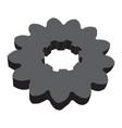 monochrome image of metal gears vector image