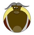 sticker bull icon vector image