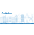 Amsterdam outline vector image vector image