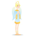 angelic boy cute young man in style of angel with vector image vector image