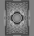 antique black frame victorian ornament beautiful vector image vector image