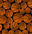 Basketball halftone gradient seamless pattern vector image vector image