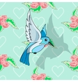 Bird and pastel pattern vector image