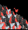 bird in love and abstraction vector image vector image
