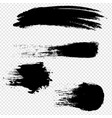 black blobs set with isolated transparent vector image vector image