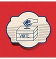 Box of vote inside frame design vector image vector image