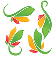 bright leaves vector image vector image