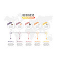 business data visualization process chart vector image vector image