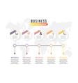 Business data visualization process chart