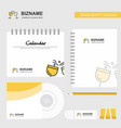 cheers logo calendar template cd cover diary and vector image vector image