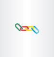 colorful chain link symbol vector image vector image