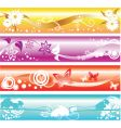 colorful floral banners vector image