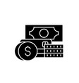 credit and debit black concept icon credit vector image
