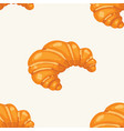croissant pattern seamless bakery vector image vector image