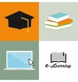e-learning icon design vector image vector image
