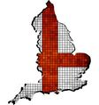 England map with flag inside vector image