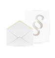 envelope and paper with paragraph vector image vector image