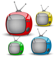 Four cute colorful TV vector image