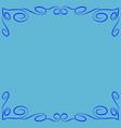 frame blue 6 2112 vector image vector image